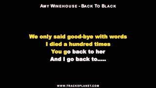 Amy Winehouse - Back to Black Karaoke