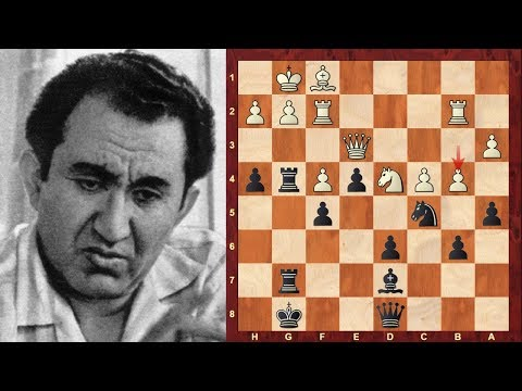 Tigran Petrosian Top 22 Amazing Chess Sacrifices! - 9th World Chess Champion 1963–1969
