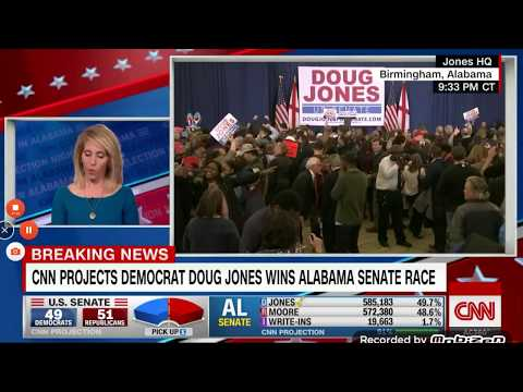 Democratic Candidate Douglas Jones Defeats Roy Moore For The Alabama Senate Seat