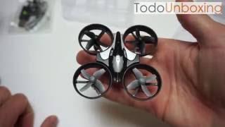 "Unboxing y vuelo JJRC H36 en español ""GeekBuying"""