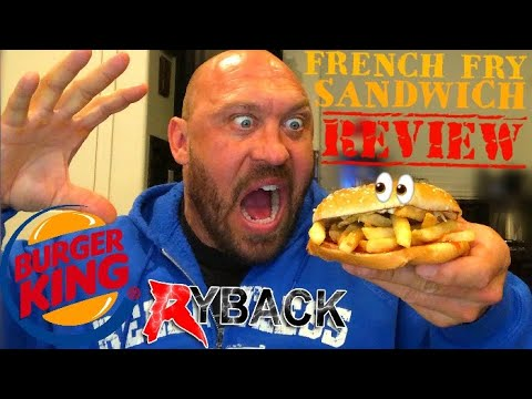 Burger King French Fry Sandwich Food Review - Ryback Feeding Time