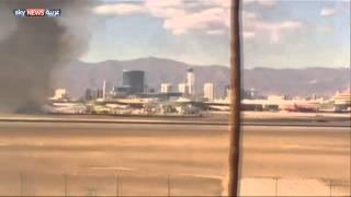 اشتعال النار في طائرة بريطانية ونجاة الركاب