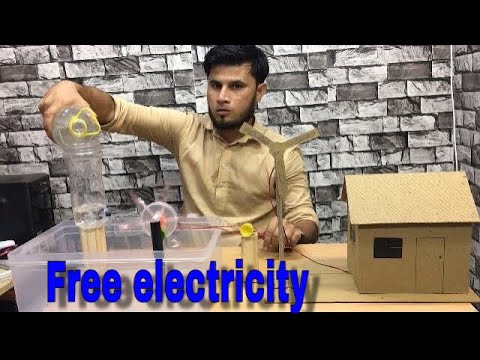How to generate electricity with water wheels