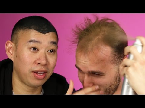 Balding Men Try Spray-On Hair
