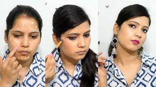 मेकअप कैसे करें   step by step makeup tutorial for beginners in Hindi   TipsToTop By Shalini