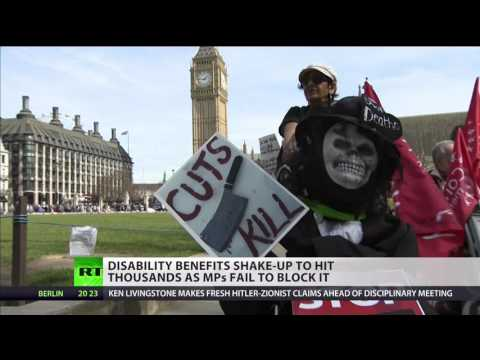 RT UK   Disability PIP cuts & anti benefit sanctions in London   2017 3 304 19 20