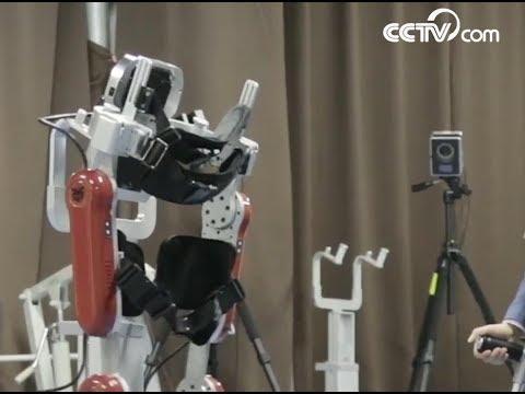 Exoskeleton robot helps disabled to walk| CCTV English
