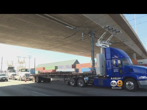 Electric Highway In Long Beach Will Reduce Emissions From Big-Rig Trucks