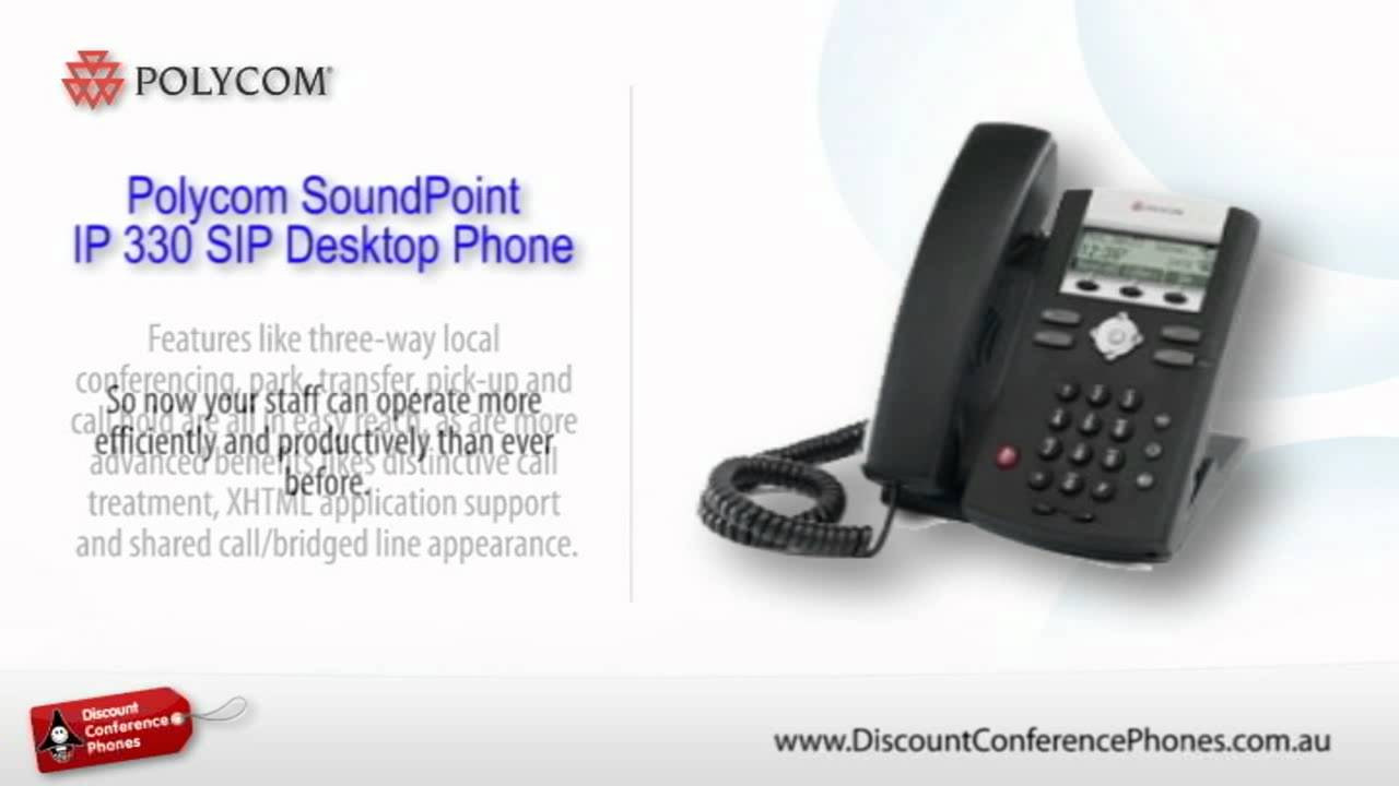 Sound Point IP 330 SIP Video Overview