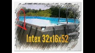 """Intex 32'x16'×52"""" Above Ground Pool Review & What others Won't tell you,#1st Video in  Series"""