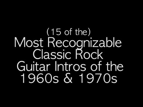 The Most Recognizable CLASSIC ROCK Guitar Intros of the 1960s &1970s! (Covers)
