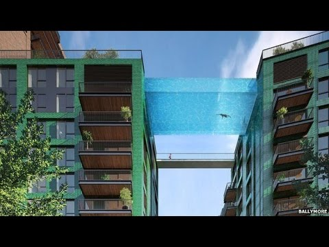 Swimming Pool 39 Bridge 39 To Link London Towers Youtube