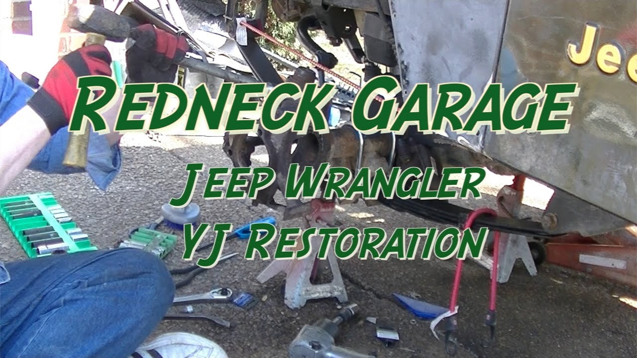 Jeep Wrangler Yj Front End Rebuild 1 W Ball Joints Youtube Diagram Of The Tj Steering And Suspension Components