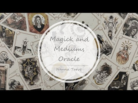 開箱  魔法巫師神諭卡 • Magick and Mediums Oracle // Nanna Tarot
