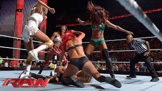 Nikki Bella vs. Alicia Fox, Eva Marie, Cameron & Rosa Mendes - 4-on-1 Handicap Match: Raw, July 21, thumbnail
