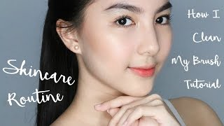 Video My Updated Skincare Routine (2017) + How I Clean My Brush (Tutorial) download MP3, 3GP, MP4, WEBM, AVI, FLV Oktober 2017