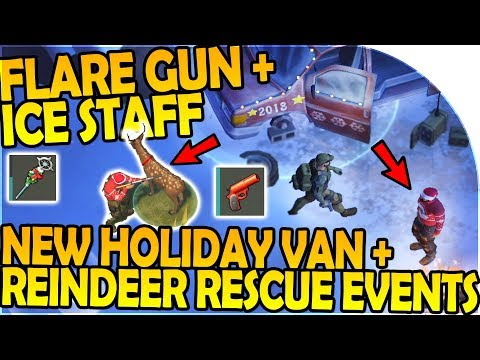 NEW HOLIDAY VAN + REINDEER RESCUE EVENTS - NEW FLARE GUN - Last Day On Earth Survival 1.6.12 Update