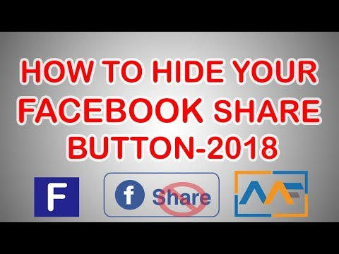HOW TO HIDE EASILY YOUR FACEBOOK SHARE BUTTON-2017 - YouTube