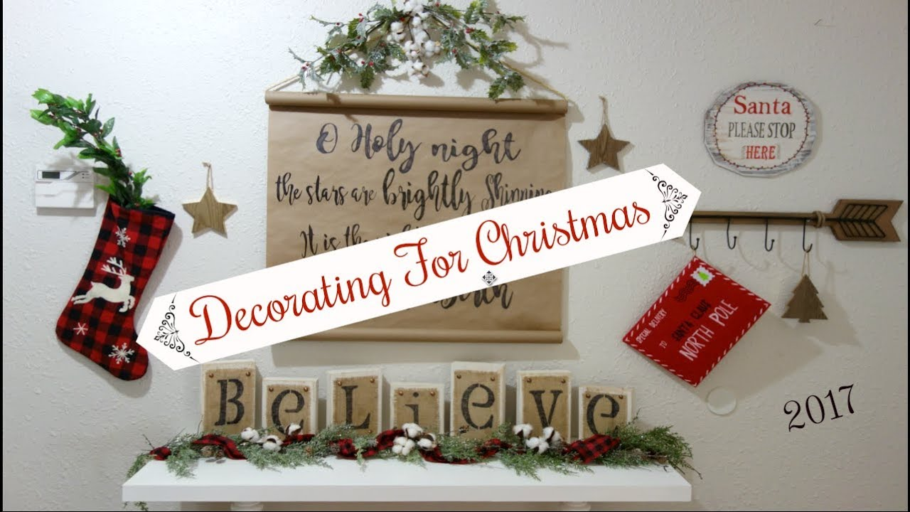 decorate with me for christmas 2017 farmhouse diy decor ideas momma from scratch