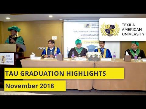 Texila American University  Graduation Highlights -  November 2018