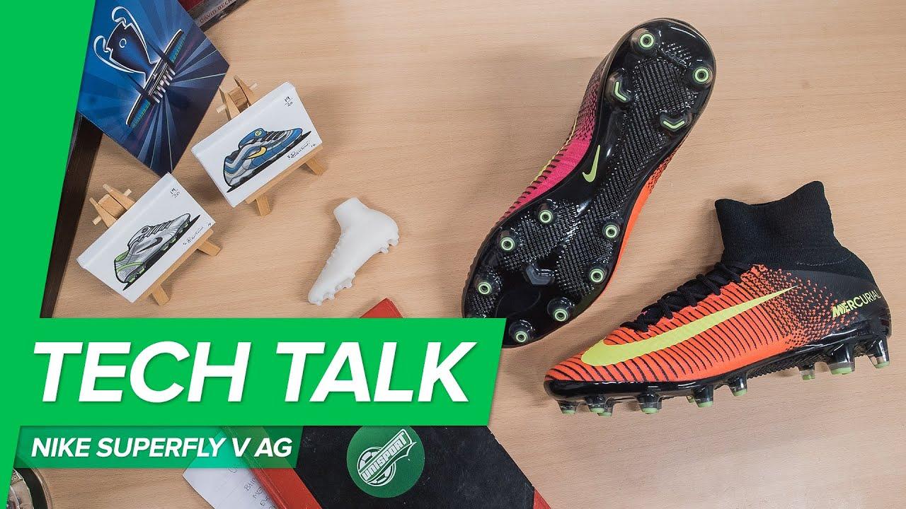 5ae05f935b2 Nike Mercurial Superfly V AG Tech Talk by Unisport - why use AG football  boots
