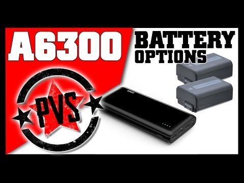 Sony A6300 Battery Options