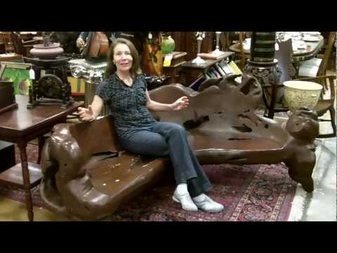Antique furniture, Whole tree root bench from our antiques mall at Gannon's Antiques