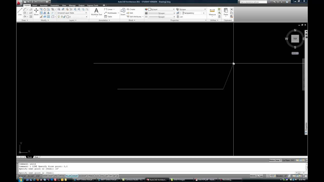 Basic AutoCAD Floor Plan   Part 1   YouTube