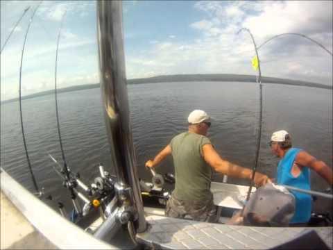 Lake superior fishing grandslam salmon steelhead for Lake superior charter fishing