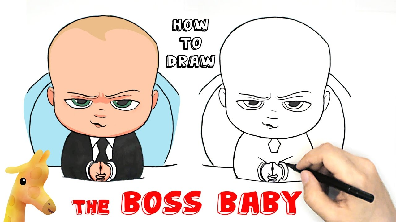 How to draw The Boss Baby - YouTube