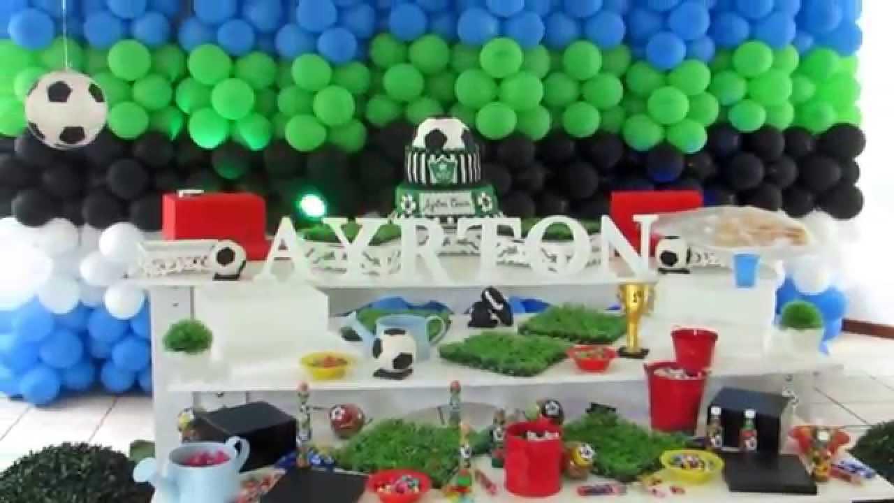 Decoração tema futebol do Ayrton - YouTube ac47213cdce08