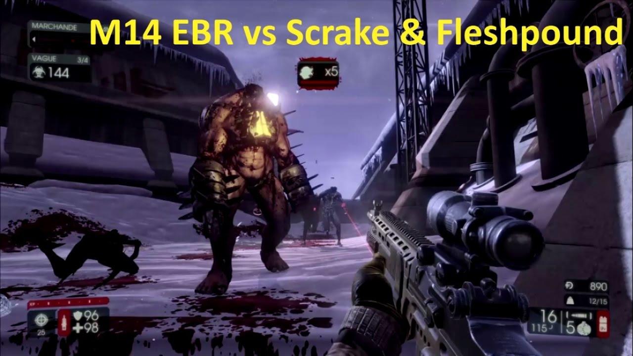 Killing Floor 2 M14ebr Vs Scrake Fleshpound Suicid Mode Youtube