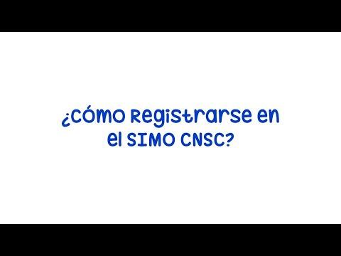 Cómo Registrarse en el SIMO CNSC | Procedimiento paso a paso