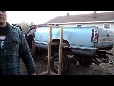 Pickup Truck Bed >> One man removal of 1988 - 1998 Chevy 1500 pickup truck bed ...