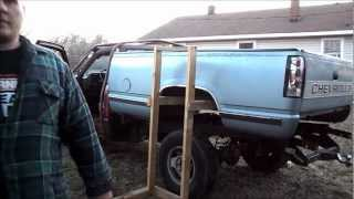 One man removal of 1988 - 1998 Chevy 1500 pickup truck bed