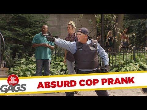 Versteckte Kamera - Absurd Sharpshooting Cop Prank