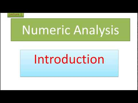 Introduction to Numerical analysis in Urdu/Hindi lecture 1