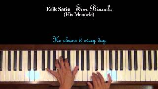 Erik Satie Son Binocle Piano Tutorial SLOW