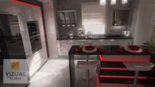 Kitchen design ideas. The modern interior design Projekt wnętrza kuchnnego Meble kuchenne led