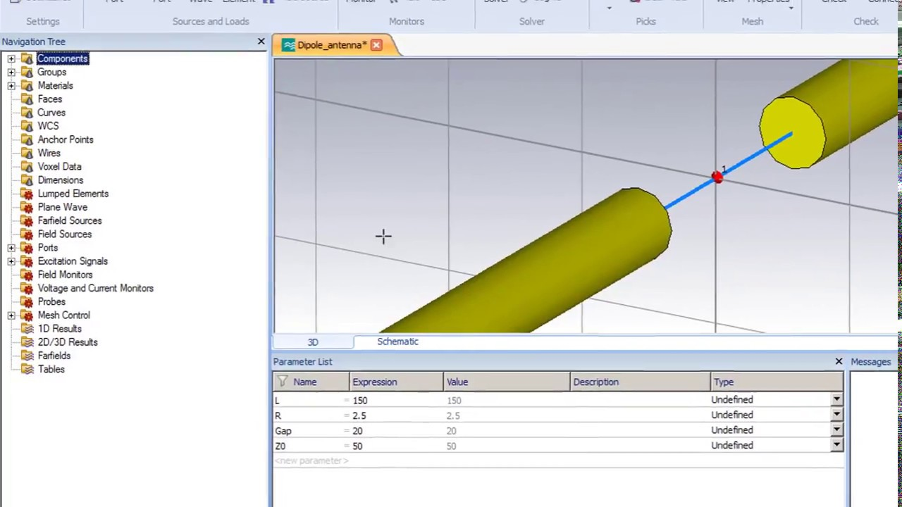 design and simulation of 1ghz dipole antenna using cst and the optimizer [ 1280 x 720 Pixel ]