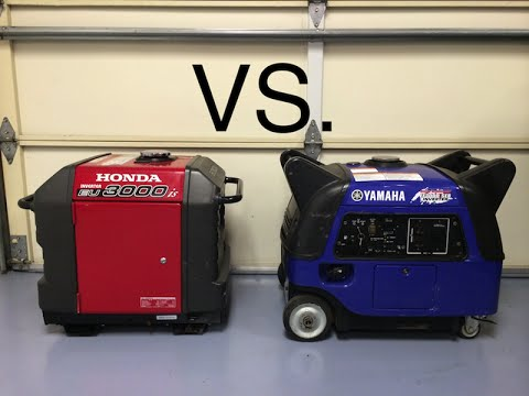 honda eu3000is vs yamaha ef3000iseb sound comparison youtube