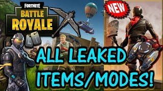ALL NEW AND UPCOMING ITEMS, SKINS, VEHICLES, AND MODES!! (Fortnite Battle Royale)