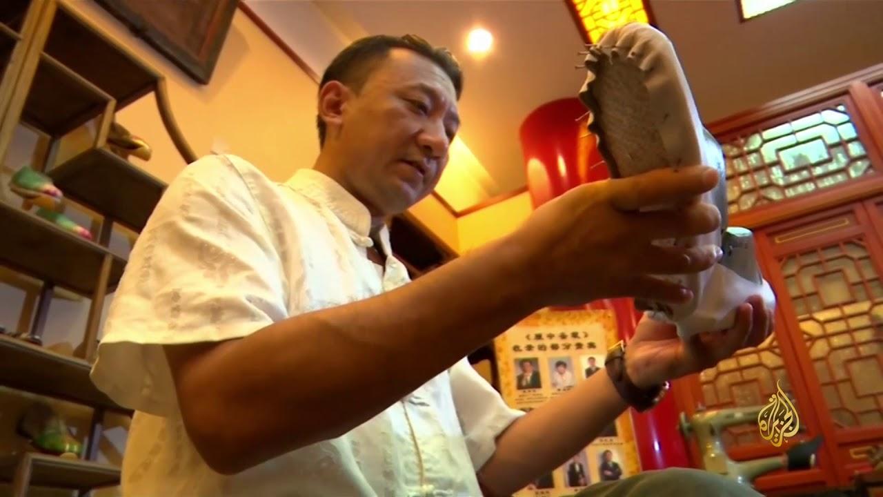 الجزيرة:هذا الصباح- متجر صيني يروج صناعة الأحذية اليدوية