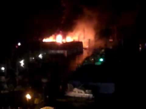 Ladysmith Marine Boat Storage Fire Jan 6 2011