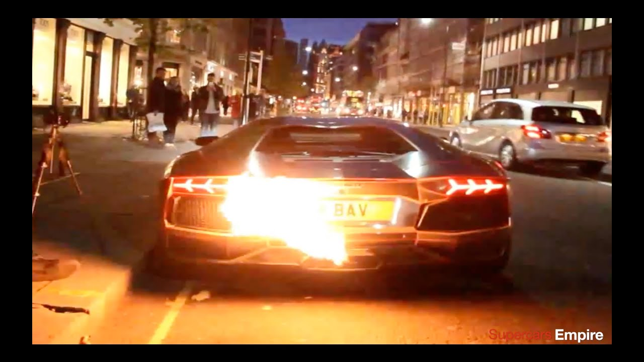 Lamborghini Aventador Catches Fire Youtube