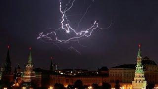 Lightning storm over Moscow / Гроза над Москвой