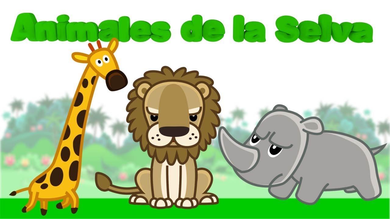 Aprende Nombres y Sonidos de Animales de la Selva| Videos educativos para niños.