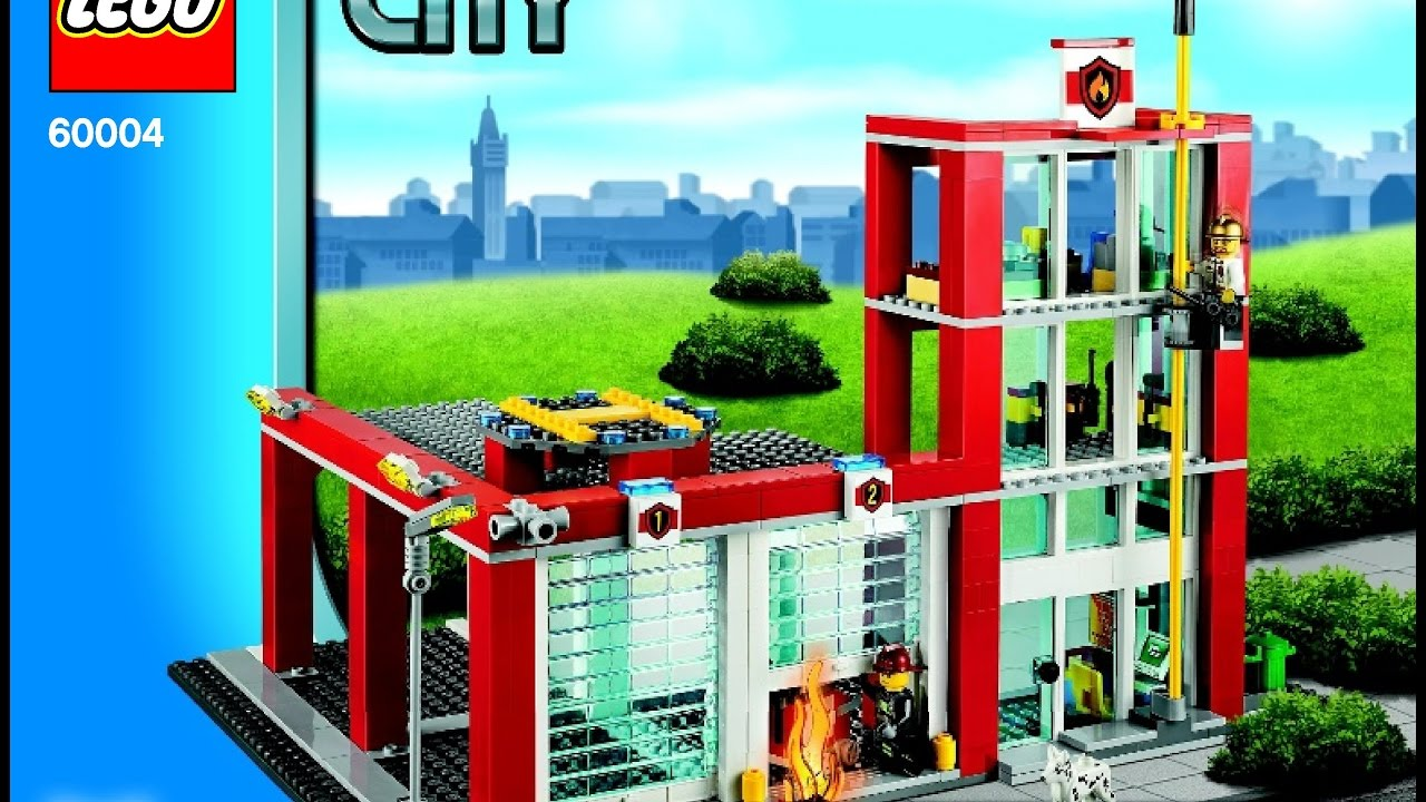 Lego City Fire Station 60004 Instructions Diy Book 5 Youtube