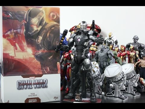 [Unboxing]Hot Toys : Die-cast 1/6 War Machine Mark 3 [Civil War]