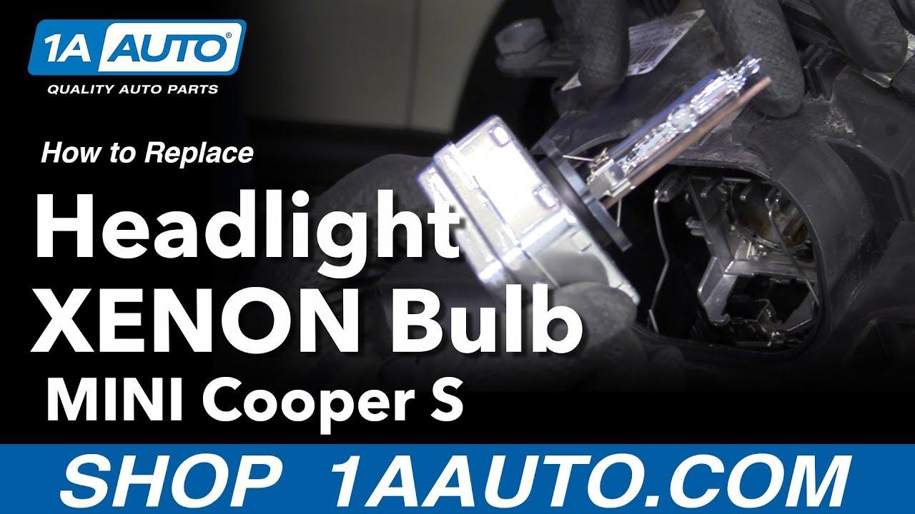 How To Replace Headlight Xenon Bulbs 07 13 Mini Cooper Youtube